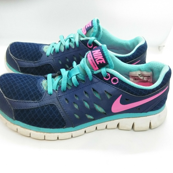 Nike Shoes - Nike Flex 2013 Run Women's Shoes Sz 7 Blue Pink